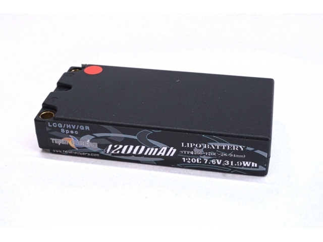 Team Powers 2S 4200mAh 120C 7.6V LiPo/LiHV Graphene Shorty Low Profile/LCG Battery