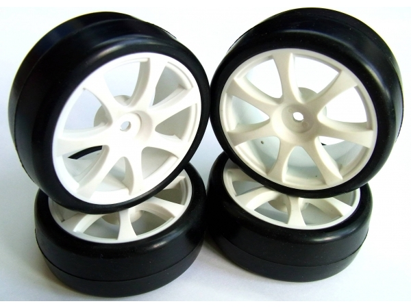 Team Powers Onroad Touring Car 7-Spoke Wheels & Tires [Choose Compound]